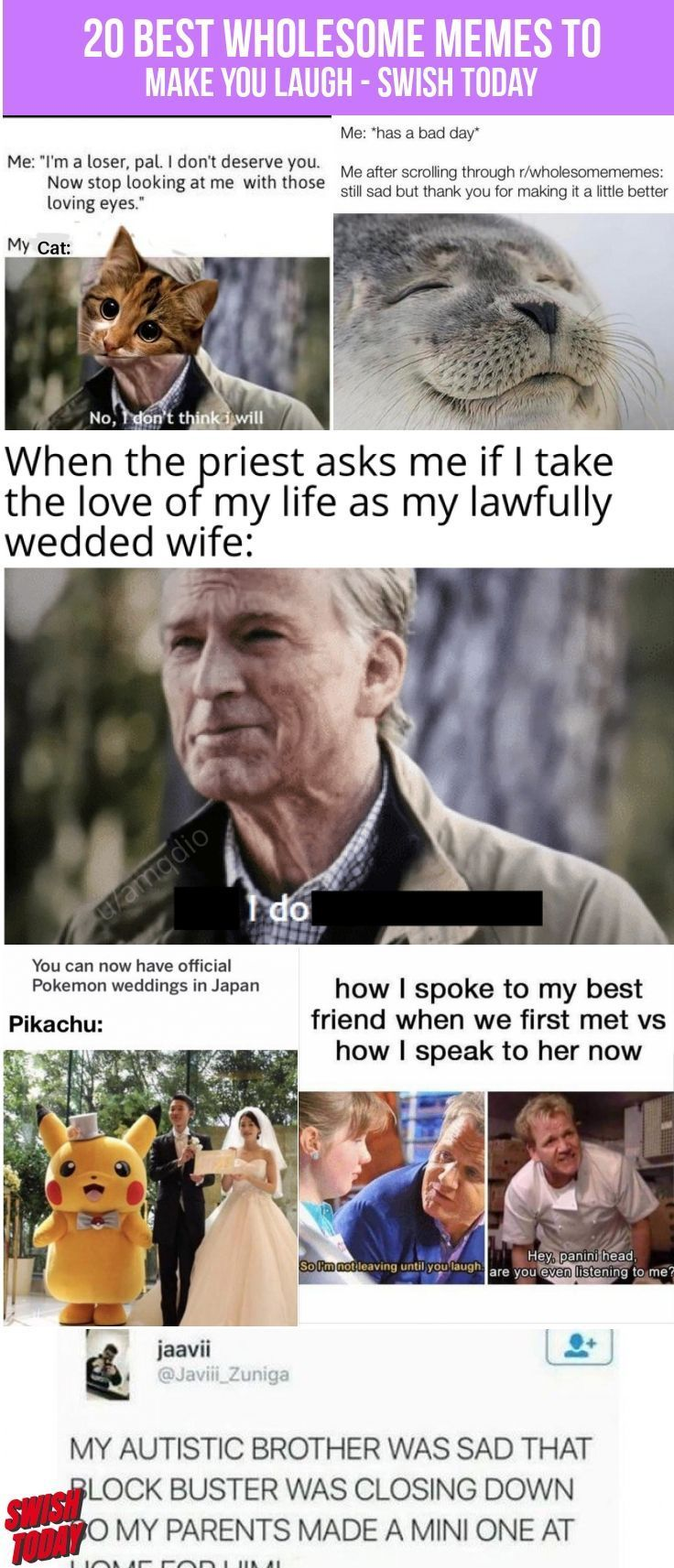 20 Best Wholesome Memes To Make You Laugh Memes Funnypictures Fun Humor Laughter Rofl Lol Wtf Epic Fun Jokes Swishtoday Wholesome Memes Memes Laugh