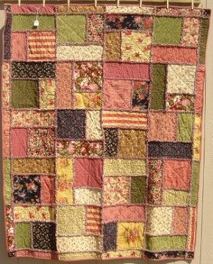 Turning 20 Rag  Flannel Quilt Kit, with flannel linning
