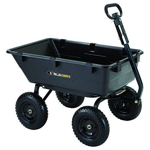 Heavy Duty Yard Cart Dump Utility Wagon Garden Steel Gorilla Wheelbarrow Poly #TricamIndustries