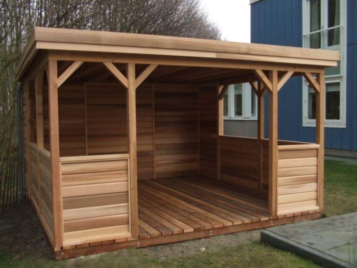Quadratischer Pavillon 400 x 400 cm mit Flachdach …
