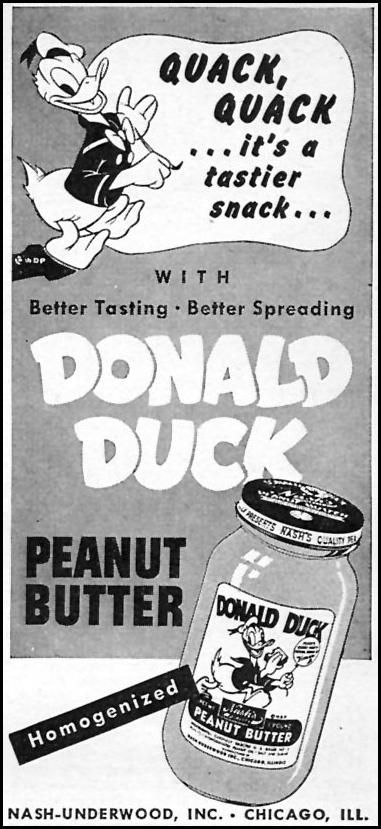 DONALD DUCK PEANUT BUTTER  WOMAN'S DAY  04/01/1946  p. 92