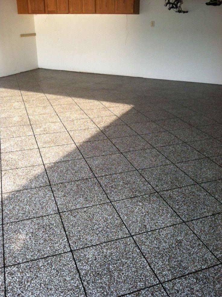 18 best epoxy tile flake flooring images on pinterest for Decorative concrete floors