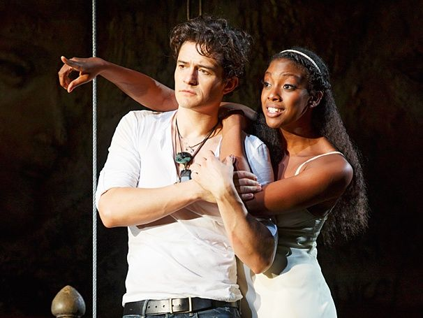 Take a tantalizing first look at Broadway's ROMEO AND JULIET, starring Orlando Bloom and Condola Rashad