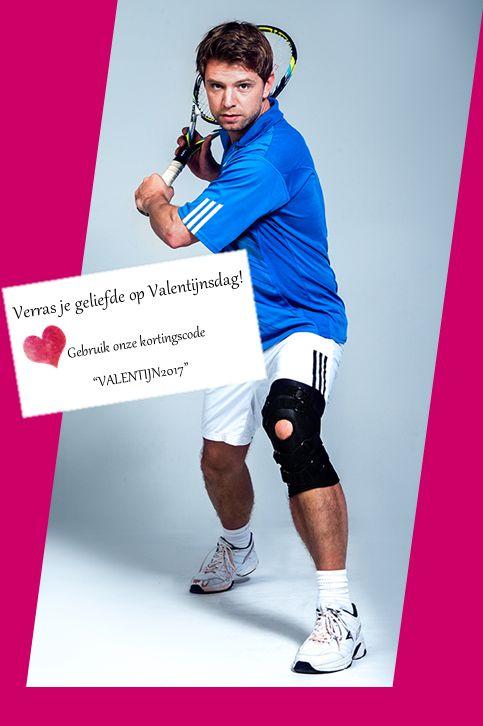 Verras je geliefde op Valentijnsdag <3   Laat je atleet beschermd bewegen en sporten!  Gebruik snel onze kortingscode #VALENTIJN2017  #webshop www.webshop-ergomedics.be  #ergomedics #valentijn #webshop #korting #sale #rafys #kniebrace
