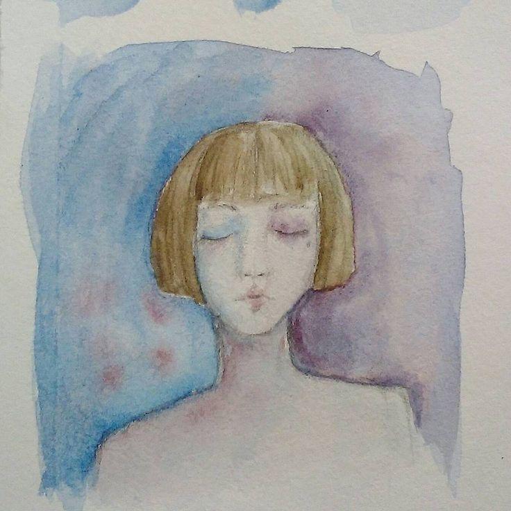 watercolor is my soul  #watercolor #blue #girl #art #traditionalart #watercolour #draw #drawing