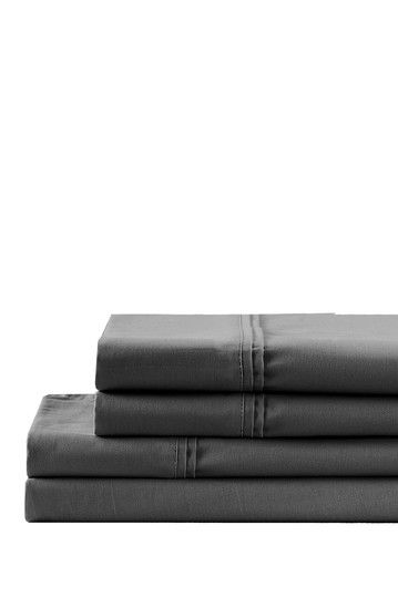 320 Thread Count Wrinkle Resistant 100% Cotton Sheet Set - Pearl Grey by NMK on @HauteLook