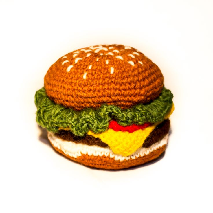 Brought to you from luxury boutique Ware of the Dog in New York City, this hamburger dog toy is a fun and summery addition to your dog's toy collection!   100% Lambswool, made with all natural dyes