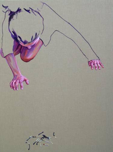 "Saatchi Art Artist Cristina Troufa; Painting, ""A paixão tem um fado #3 (passion have a destiny) SOLD"" #art"