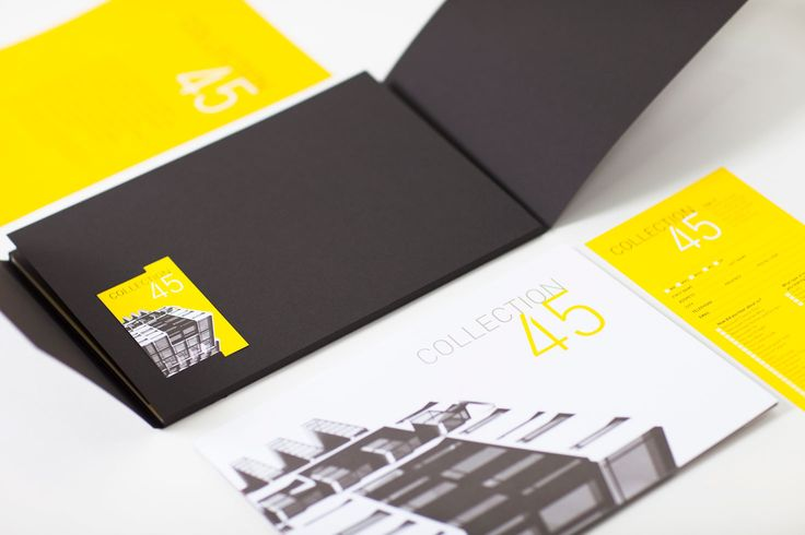 Collection 45 by MYIE #design #graphicdesign #brand #brandidentity #realestate #brochure #layout #marketing
