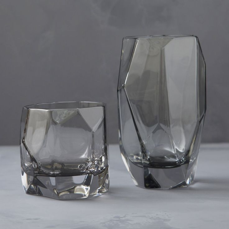 KW / grey crystal highball and lowball
