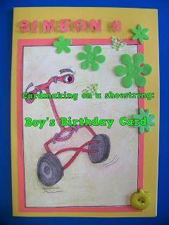 A Pretty Talent Blog: Cardmaking On A Shoestring: Birthday Card For A Boy