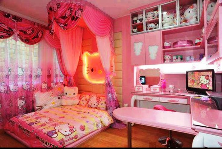 48 best hello kitty rooms images on pinterest hello - Stuff for girls rooms ...