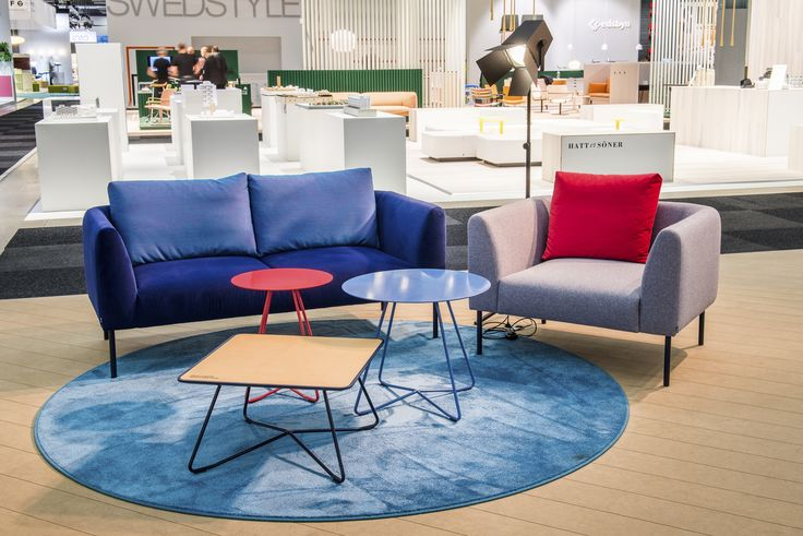Chill Out area with Nooa sofa and armchair by Antti Kotilainen. Scoop sofa table by Iiro Viljanen with leather top.