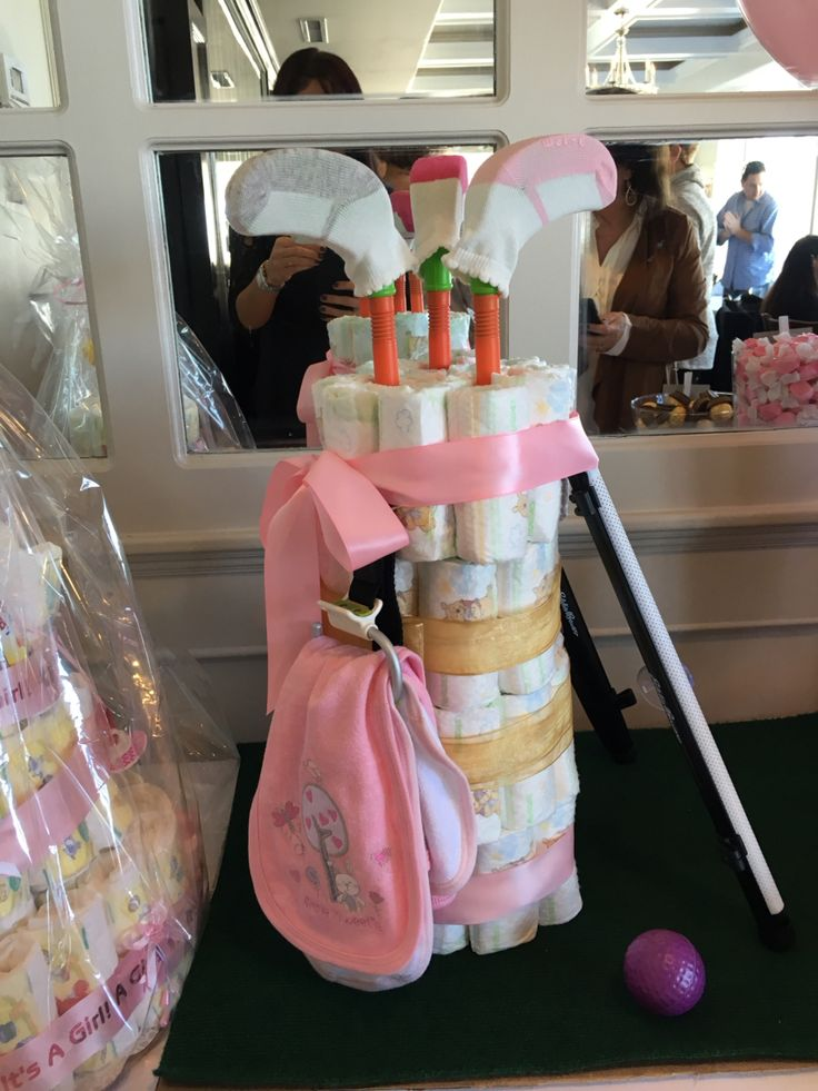 Baby girl diaper golf bag