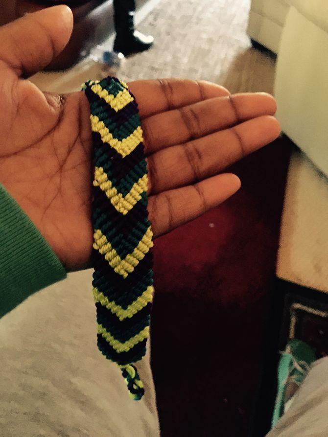 chevron friendship bracelet instructions