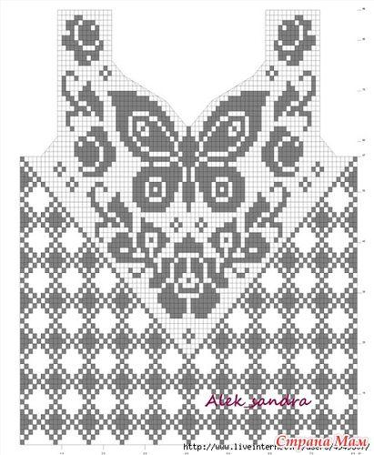 Пуловер с бабочкой. - Вязание - Страна Мам