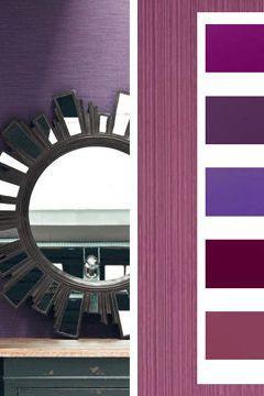 Textures pourpres pour cette palette déco de couleurs