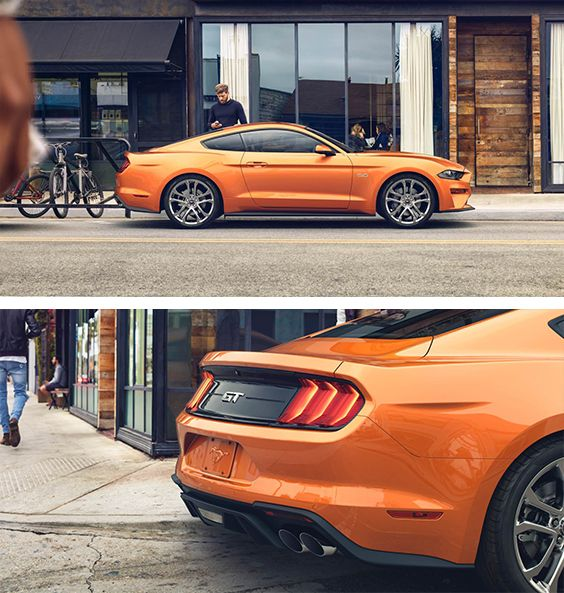 2018 Mustang - You'll leave a lasting impression from the newly designed LED taillamps to the dual exhaust with quad tips. Both standard on Mustang GT.