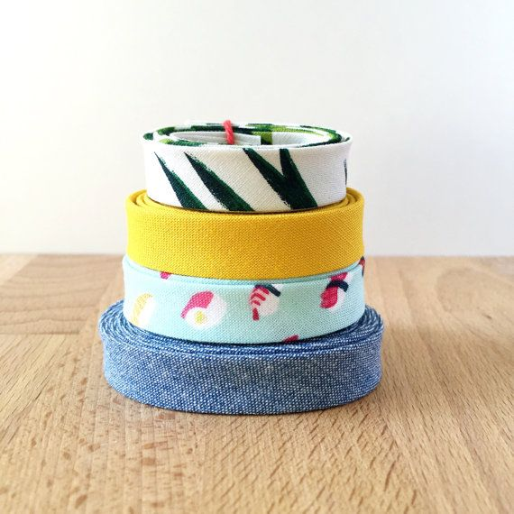 Bias Tape Remnant Pack 1/2 Double-fold Cotton Binding By