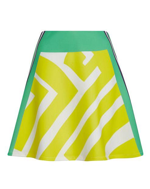 Patrizia Pepe Rock mit dekorativem Muster - grün/gelb/weiß Jetzt auf kleidoo.de bestellen! #rock #skirt #neon #grün #gelb #weiß #fashion #patriziapepe