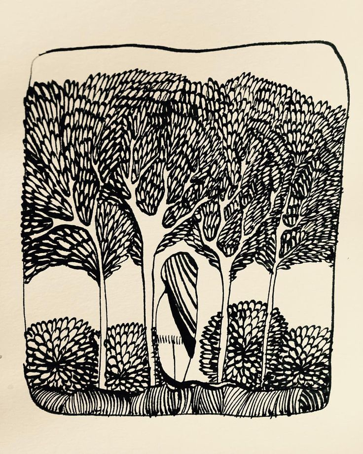 Ashya Lane-Spollen, ink and quill. 'Walk into the woods' A little drawing just for myself, as a creative break from commission work.   #art #illustration #artist #illustrator #artlife #artblog #artblogger #draw #drawing #ink #forest #wood #walk #pattern #ireland #irish #dublin #tree #trees #nature #peace #peaceful #baaxart #ashyalanespollen