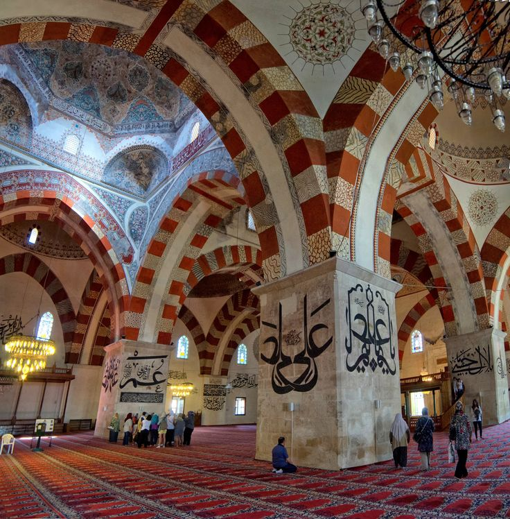 https://flic.kr/p/dE8buW | Eski Cami (Old Mosque) - Edirne Turkey | Eski Cami hat sanatı örnekleri ve muhteşem süslemeleri ile mutlaka görülmesi gereken bir yer.  From archnet.org  The construction of the Old Mosque of Edirne began in 1402 (805 A.H.) by order of Emir Süleyman and was completed under the rule of his brother Mehmed I in 1414 (816 A.H.) The inscriptive plaque (kitabe) above its western portal gives the name of the architect, Haci Alaeddin of Konya and the builder, Ömer bin…