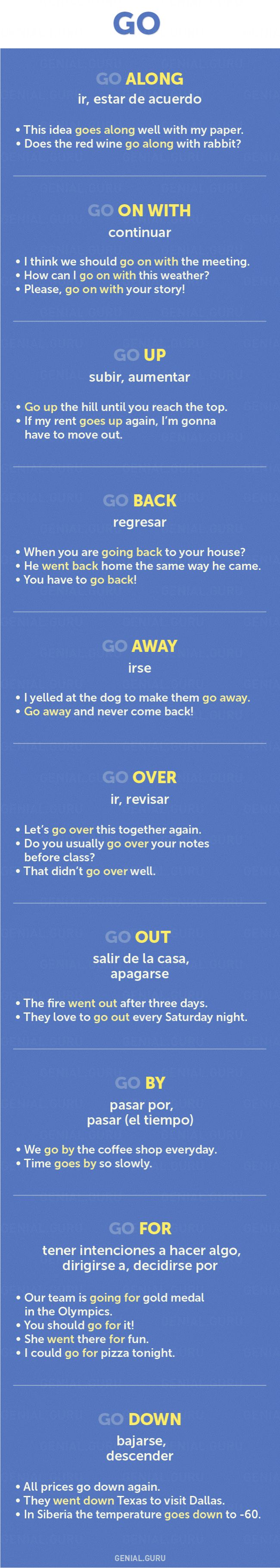 Expressions with GO #learnenglish