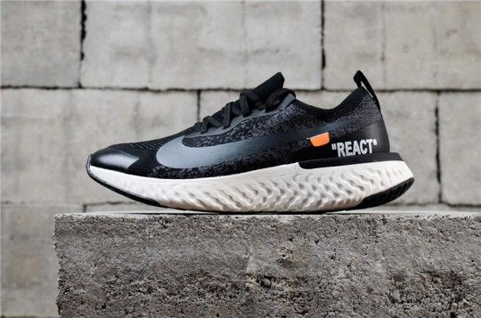 Off White x Nike Epic React  Black  AQ0067-001  1cc56c23e