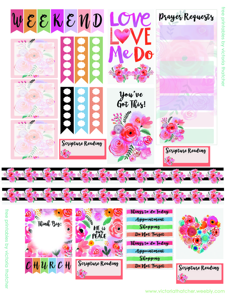 Planner & Journaling Printables ❤ Printable Journal & Planner Stickers