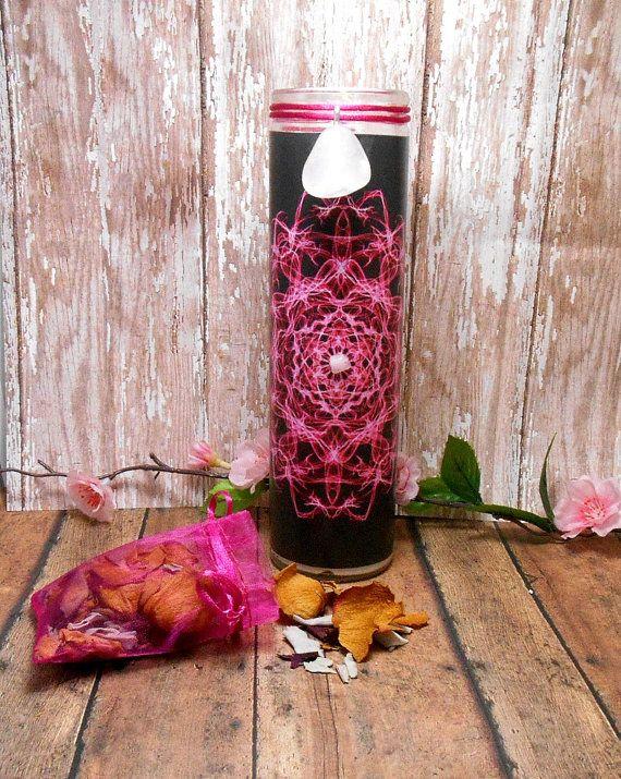 Love Energy 7 Day Candle  Rose Quartz Rose by SpiritualPathways, $14.00