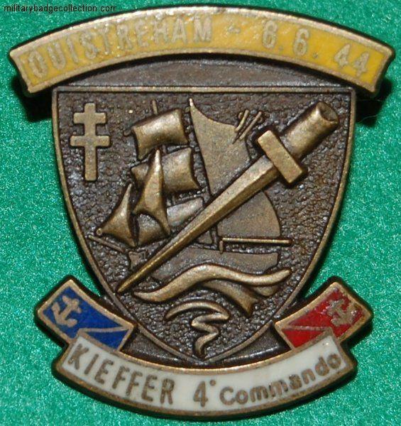 Les commandos Kieffer sont les fusiliers marins commandos créés par la France libre lors de la 2nde guerre mondiale et commandés par le capitaine de corvette Philippe Kieffer. Ils étaient intégrés à la Special Service Brigade britannique. 177 se sont illustrés pendant le débarquement de Normandie, seuls représentants de la France à débarquer sur les plages, puis dans les combats qui ont suivi. Les commandos marine de la marine nationale française sont les héritiers des commandos Kieffer…