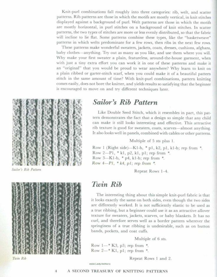 A Second Treasury Of Knitting Patterns Barbara G Walker