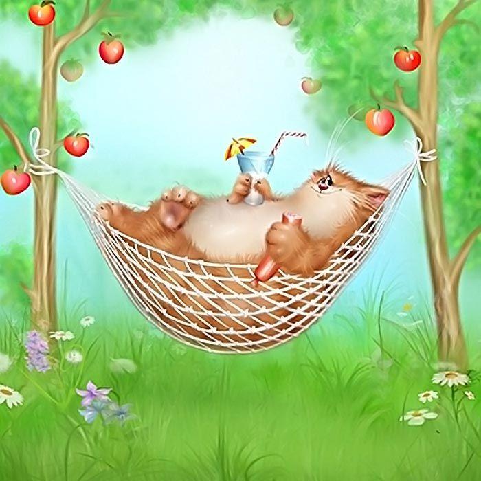 Коты долотова открытки с днем рождения, картинка