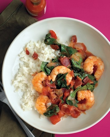 What's for supper? How about Shrimp with Bacon and Collards? Collard greens are another fresh ingredient being grown in the Chef's Organic Kitchen #Garden at the Paso Robles Inn and Steakhouse. Check out this delicious looking recipe.