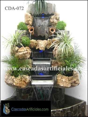 Cascadas para interiores fuentes de gua piletas de for Piletas con cascadas
