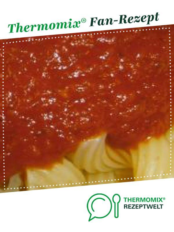 Tomatensoße die Kinder lieben von shae. Ein Thermomix ® Rezept aus der Kategorie Saucen/Dips/Brotaufstriche auf www.rezeptwelt.de, der Thermomix ® Community.