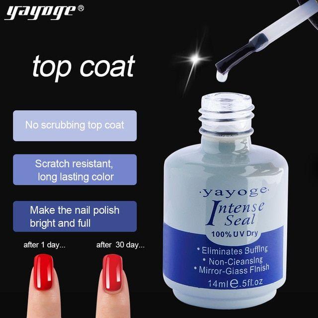 Yayoge 2in1 14ml Top Base Coat Primer Acrylic Nail Kit For Uv Gel Nail Polish Art Lacquer Bonder Intense Seal Fast Dry Review Acrylic Nail Kit Uv Gel Gel