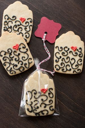 How to Make Tea Bag Cookie Favors | My Kitchen Addiction