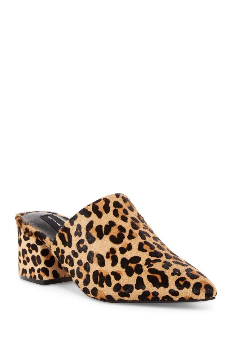 Steven By Steve Madden Shaw Genuine Calf Hair Leopard Mule