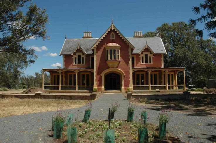 Front Elevation Of Houses In Australia : Longernong homestead front elevation geelong