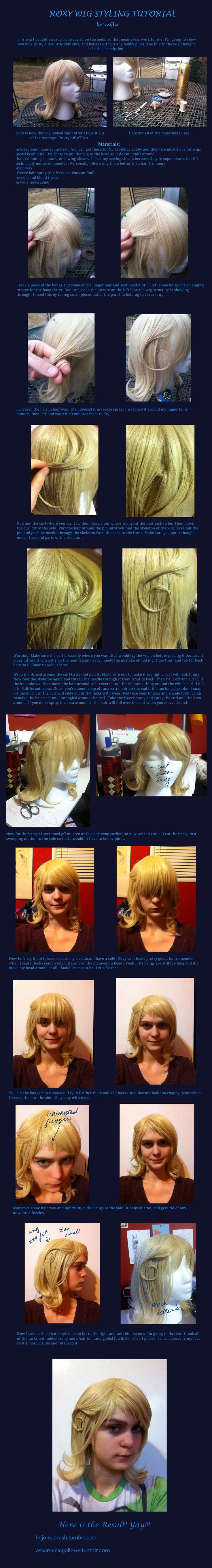 Roxy Wig Styling Tutorial by ~Leijons-brush on deviantART