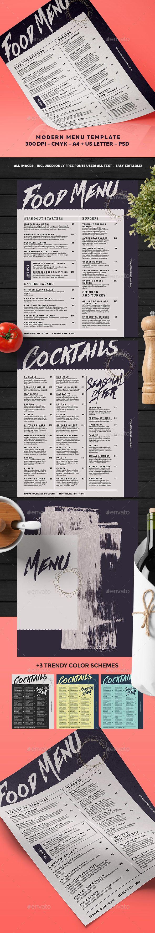 Menu Template - Food Menus Print Templates Download here : https://graphicriver.net/item/menu-template/17954376?s_rank=144&ref=Al-fatih