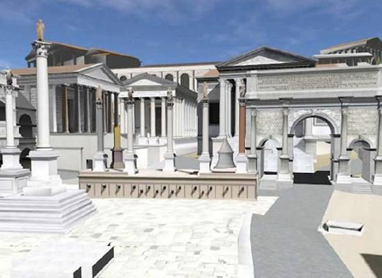 Reconstruction of the Forum Romanum (part of it) with in ...