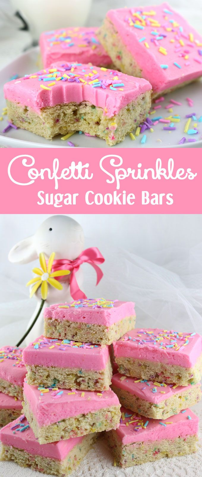 on a Frosted Sugar Cookie, these Confetti Sprinkles Sugar Cookie Bars ...
