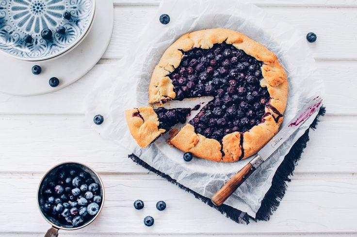 Tarta rustykalna z borówkami | Ania Starmach