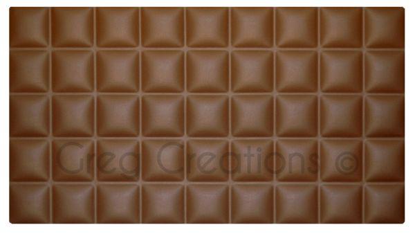 Cabecero de cama modelo CHOCOLATE tapizado en polipiel color marrón.