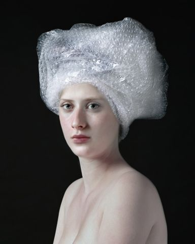 Photographed recreations of traditional dutch paintings with non-traditional objects by Hendrik Kerstens.