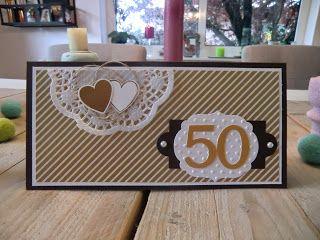 Stampin Up Karte zur Goldenen Hochzeit mit Hearts a Flutter