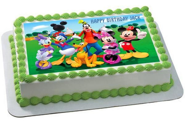 Mickey Mouse Clubhouse 3 Edible Birthday Cake Topper OR Cupcake Topper, Decor #cakedecorating