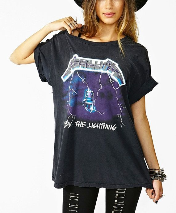 Vintage 80s AUTH Metallica Ride the Lightning by PoppyChainGirl, $114.99